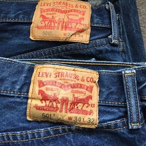 505 Levi's 34x34 and 34x32